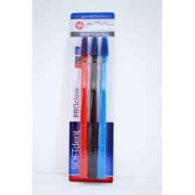 Zubní kartáček SOFTdent PROclinic 3 ks