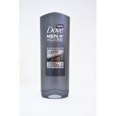 Dove Men+Care Charcoal & Clay Sprchový gel pro muže (Objem 250 ml)